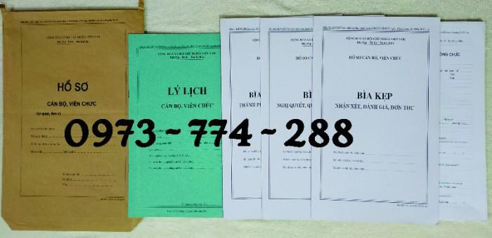 Bộ hồ sơ cán bộ công chức có mẫu b01, b02, b03, b04, b05, b06, hs09-VC/BNV giá rẻ, mẫu chuẩn mới nhất11