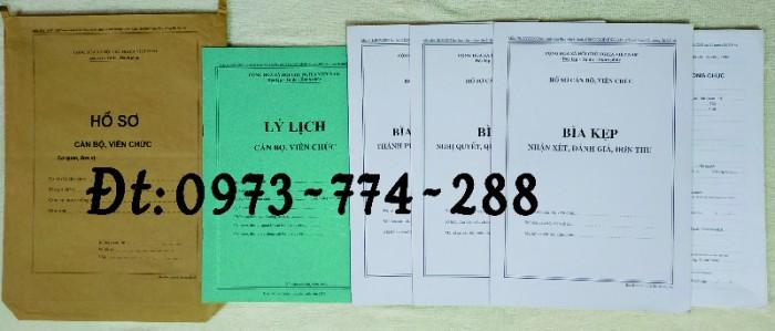 Bộ hồ sơ cán bộ công chức có mẫu b01, b02, b03, b04, b05, b06, hs09-VC/BNV giá rẻ, mẫu chuẩn mới nhất12