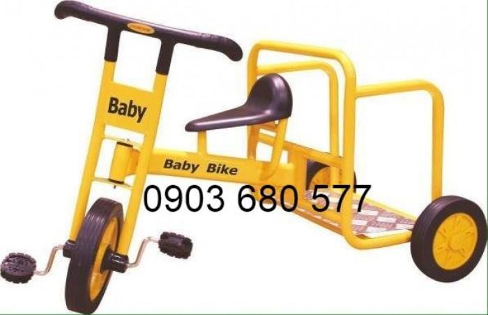 Cần bánh xe đạp 3 bánh cho trẻ em mầm non2