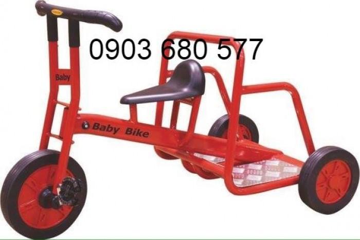 Cần bánh xe đạp 3 bánh cho trẻ em mầm non3