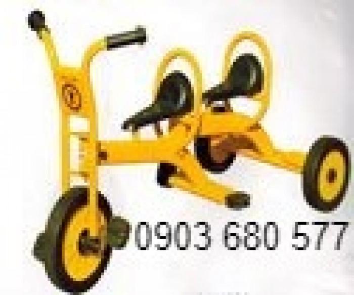 Cần bánh xe đạp 3 bánh cho trẻ em mầm non16