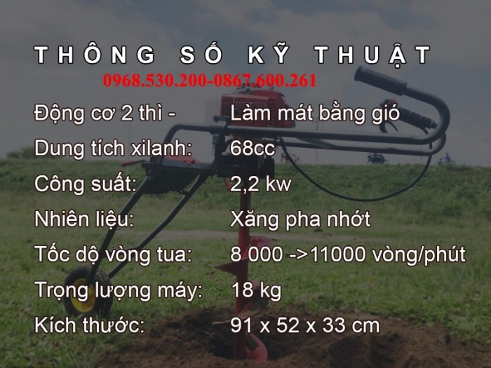 www.kenhraovat.com: Máy khoan lỗ trồng cây các loại giá rẻ tại An Giang