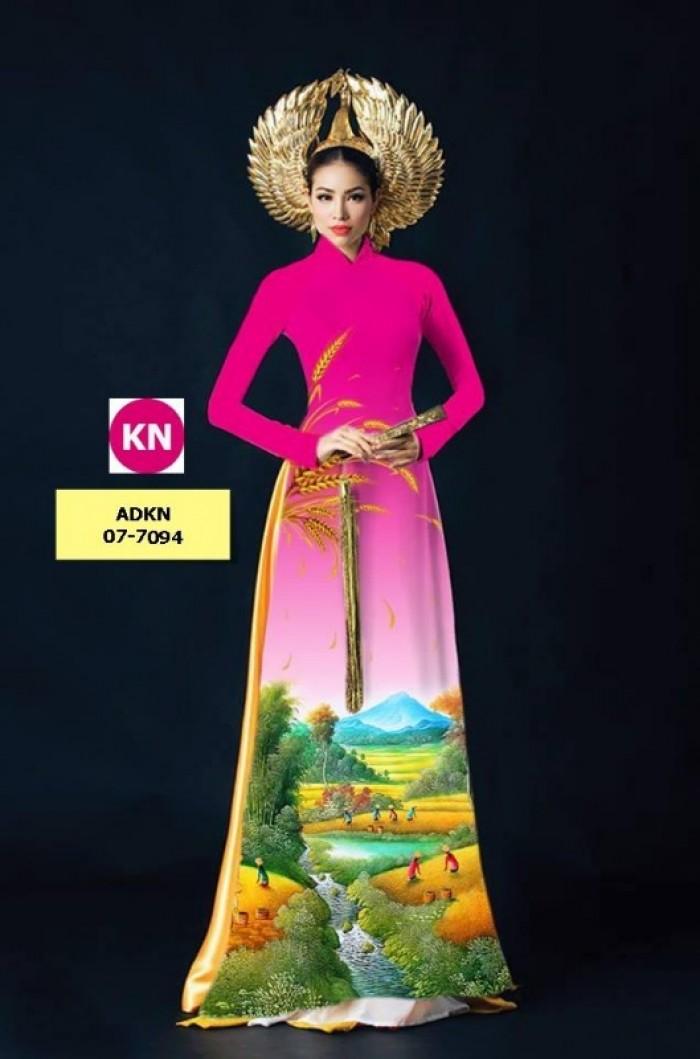 Vải áo dài trơn, vải áo dài hoa nhí, vải áo dài Cô ba Sài Gòn1