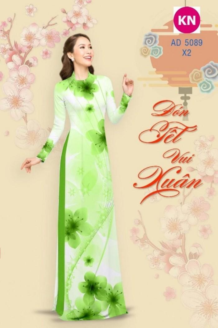 Vải áo dài trơn, vải áo dài hoa nhí, vải áo dài Cô ba Sài Gòn9