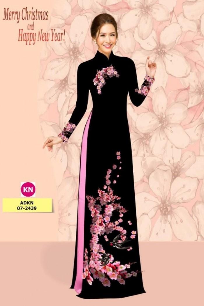 Vải áo dài trơn, vải áo dài hoa nhí, vải áo dài Cô ba Sài Gòn6