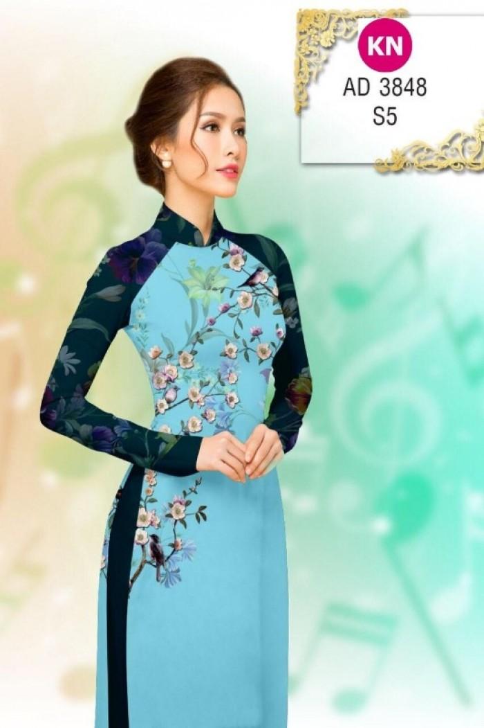 Vải áo dài trơn, vải áo dài hoa nhí, vải áo dài Cô ba Sài Gòn12