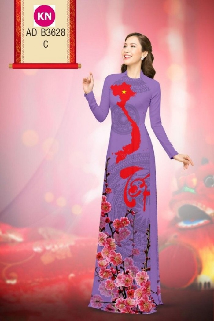 Vải áo dài trơn, vải áo dài hoa nhí, vải áo dài Cô ba Sài Gòn7