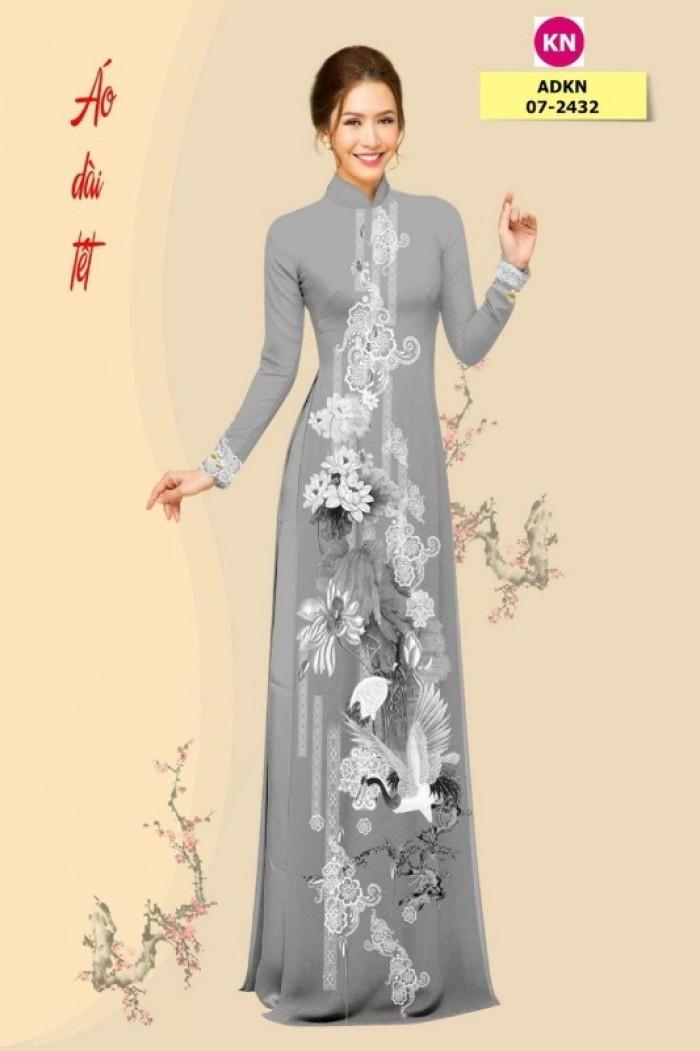 Vải áo dài trơn, vải áo dài hoa nhí, vải áo dài Cô ba Sài Gòn16