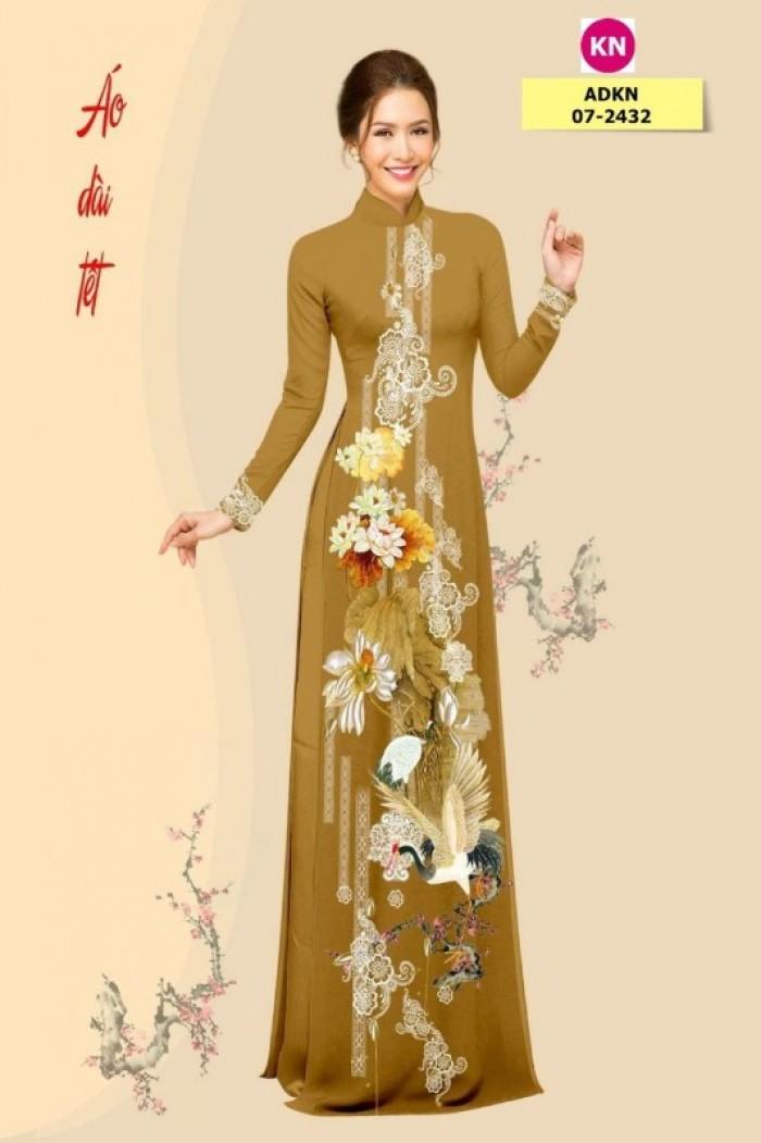 Vải áo dài trơn, vải áo dài hoa nhí, vải áo dài Cô ba Sài Gòn19