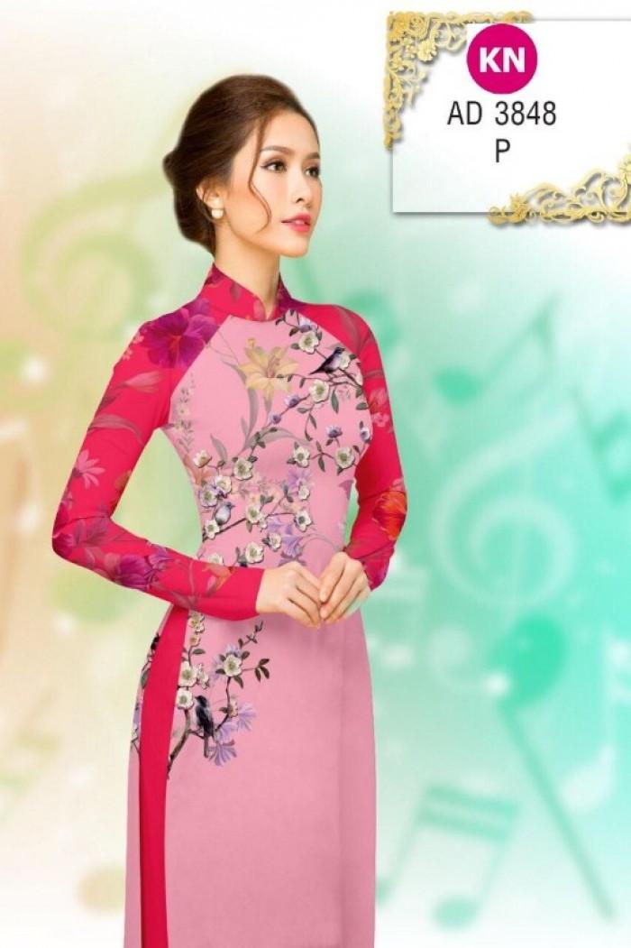 Vải áo dài trơn, vải áo dài hoa nhí, vải áo dài Cô ba Sài Gòn10