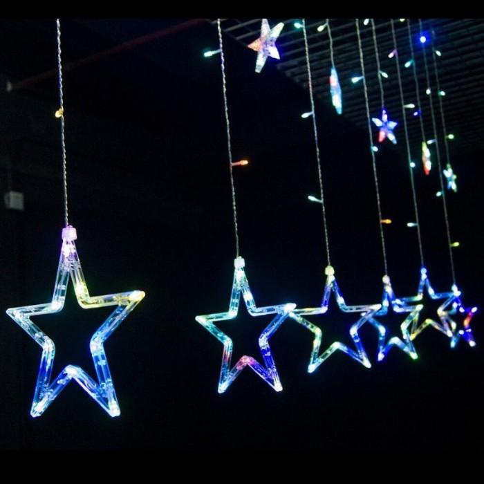 Combo 12 Đèn Led Ngôi Sao Đủ Màu Trang Trí Lễ Tết Noel MSN1831119