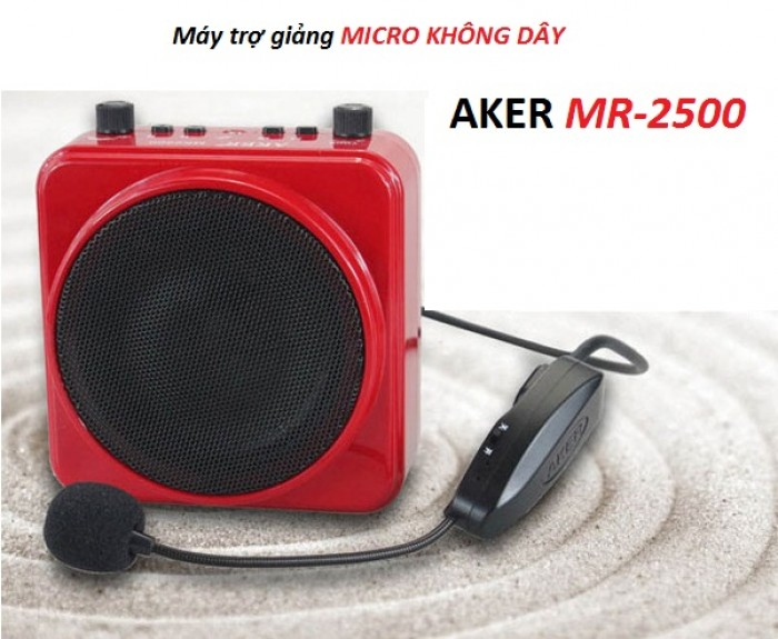 Máy trợ giảng AKER MR-2500W micro cài đầu không dây là dòng máy trợ giảng chất lượng cao0