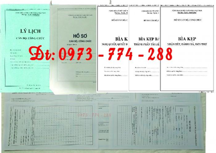 Bộ hồ sơ cán bộ công chức2