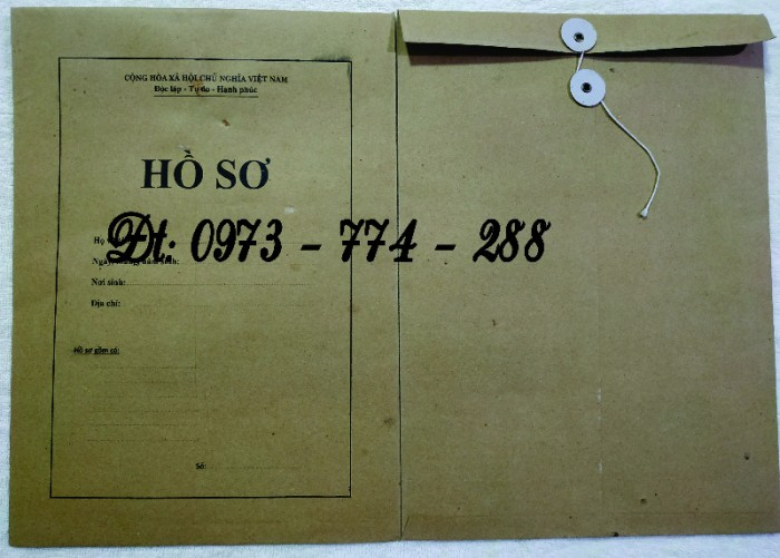 Bộ hồ sơ cán bộ công chức15