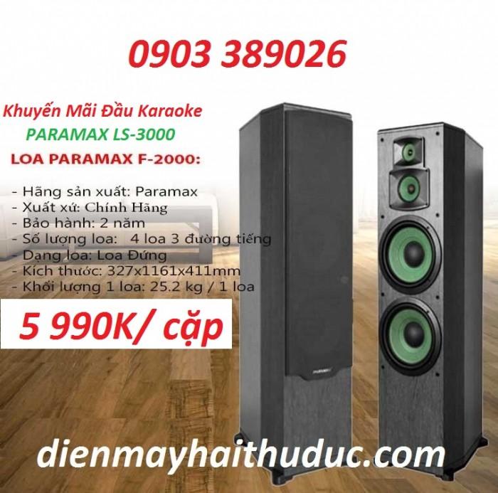 Loa đứng Paramax F-2000 Giảm giá ngay 25% bán chỉ còn 5 990K/ cặp1