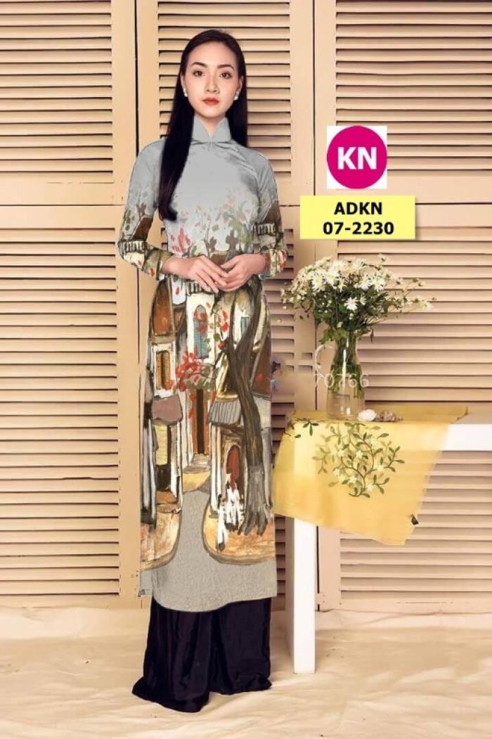 Vải áo dài phong cảnh đẹp 2020 của vải áo dài Kim Ngọc 07-22300