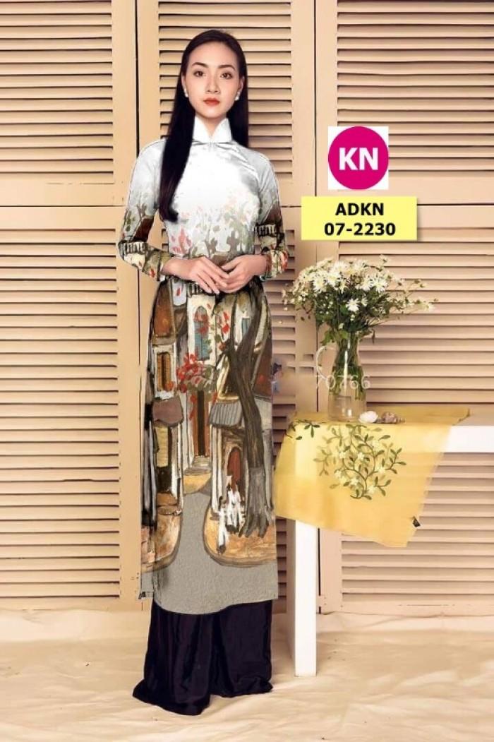 Vải áo dài phong cảnh đẹp 2020 của vải áo dài Kim Ngọc 07-22302