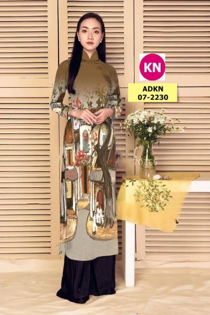 Vải áo dài phong cảnh đẹp 2020 của vải áo dài Kim Ngọc 07-22304