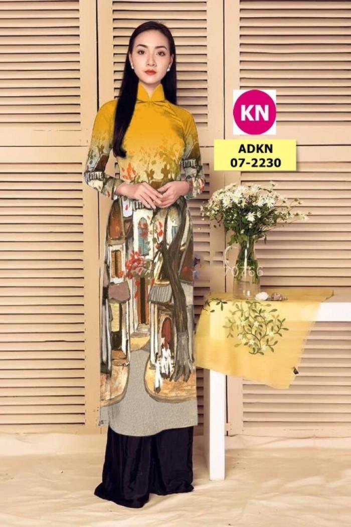 Vải áo dài phong cảnh đẹp 2020 của vải áo dài Kim Ngọc 07-22303