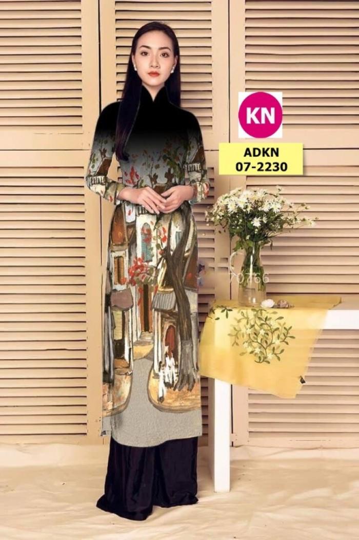 Vải áo dài phong cảnh đẹp 2020 của vải áo dài Kim Ngọc 07-22306