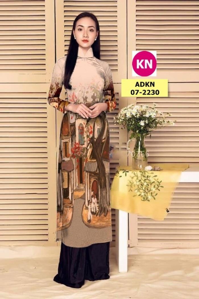 Vải áo dài phong cảnh đẹp 2020 của vải áo dài Kim Ngọc 07-22307