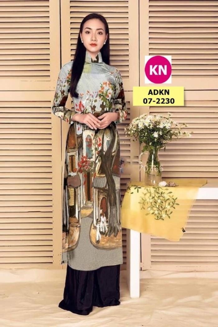Vải áo dài phong cảnh đẹp 2020 của vải áo dài Kim Ngọc 07-22308
