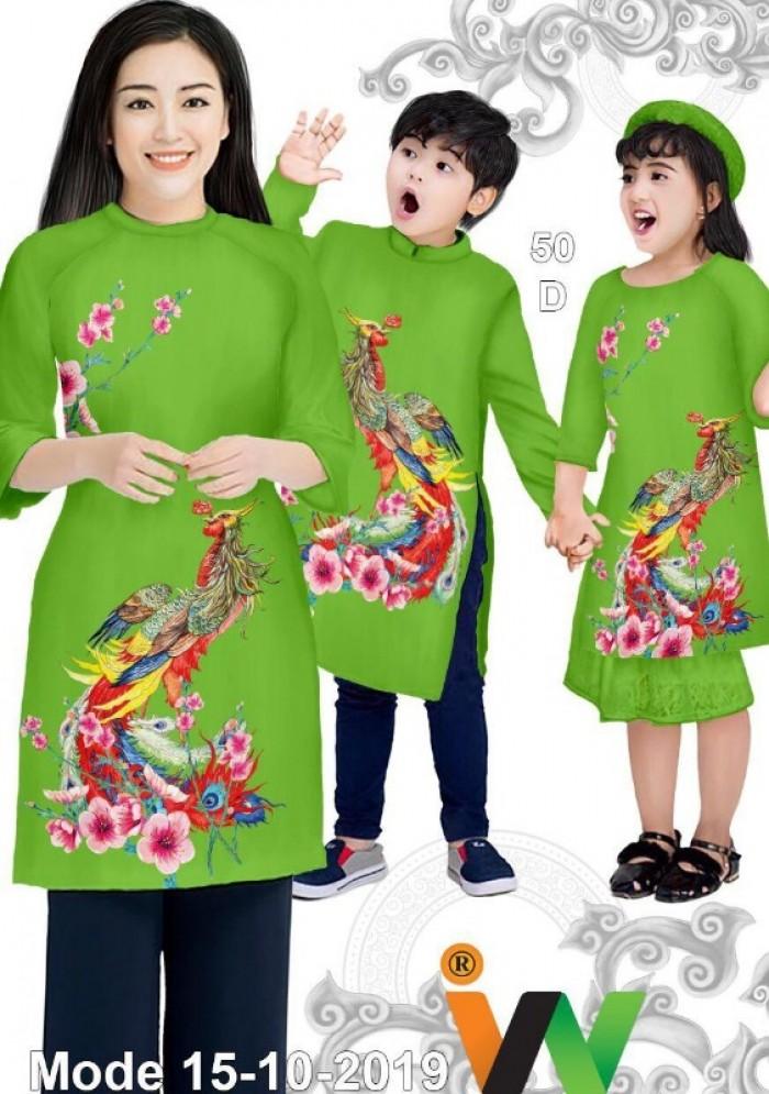 Vải May Áo dài đồng phục gia đình vải áo dài gia đình siêu đẹp0