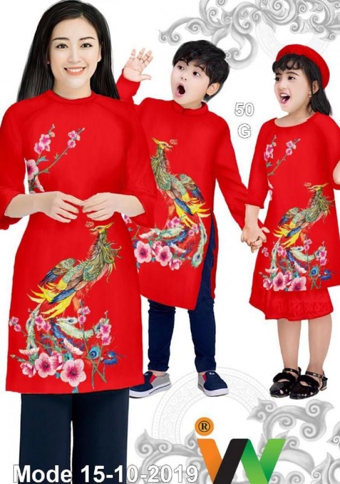Vải May Áo dài đồng phục gia đình vải áo dài gia đình siêu đẹp5