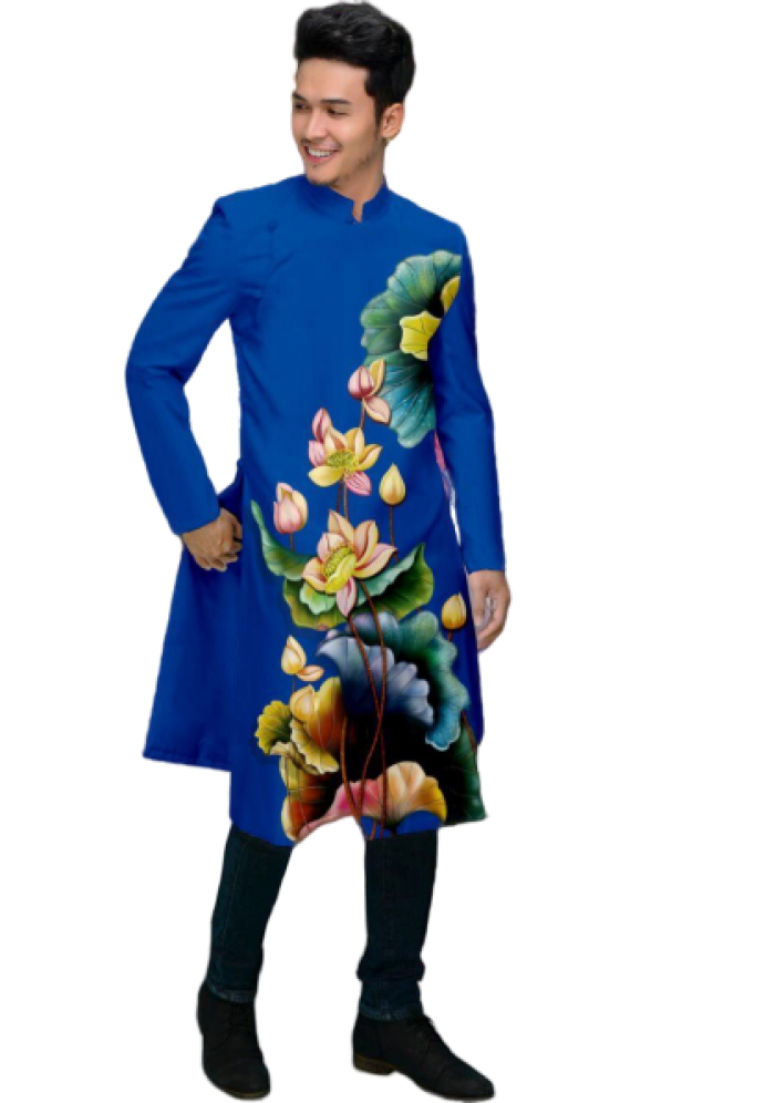 vải may áo dài nam nhận bán vải hoặc may luôn gửi đi trong nước và nước ngoài0