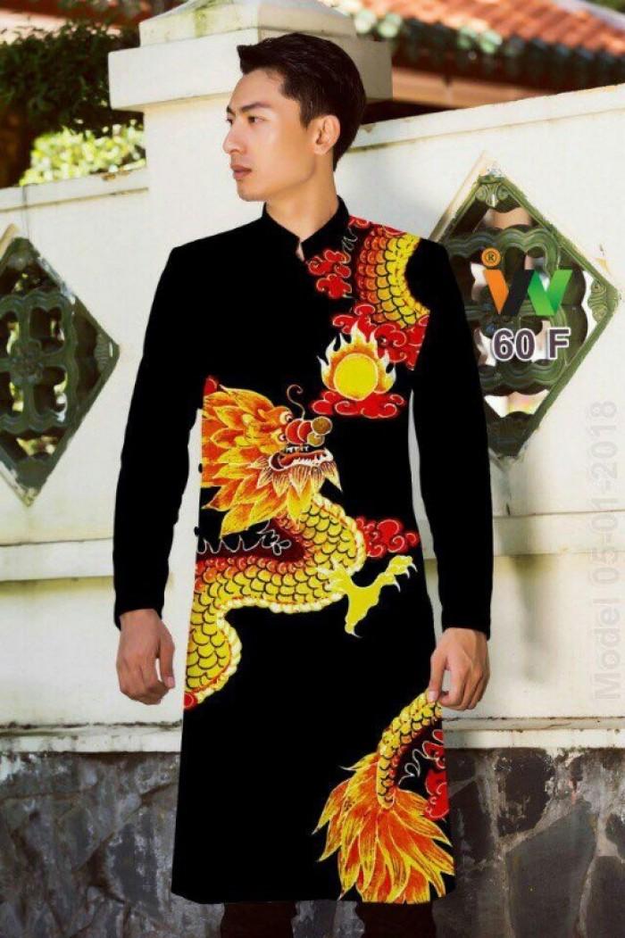 vải may áo dài nam nhận bán vải hoặc may luôn gửi đi trong nước và nước ngoài3