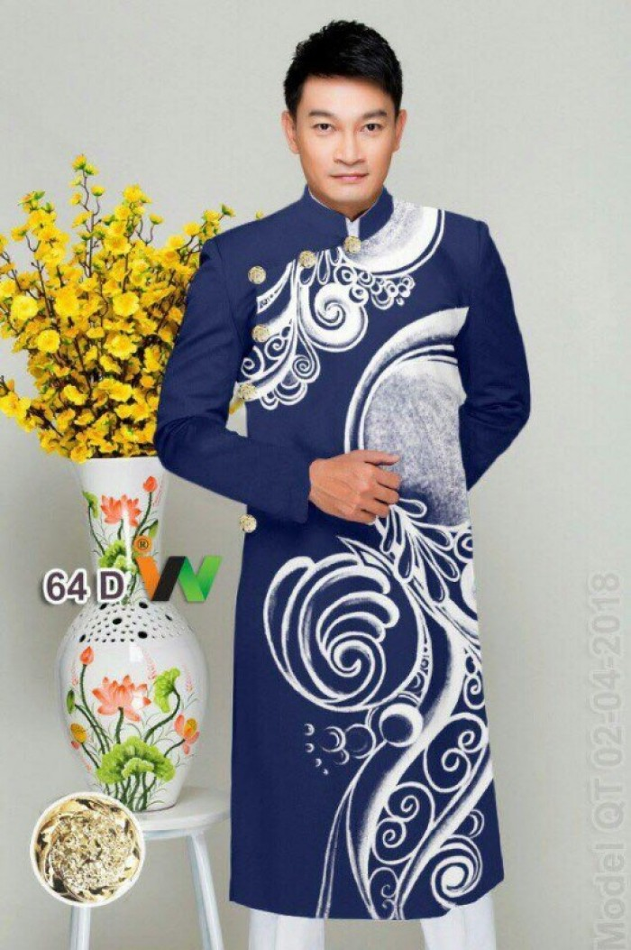 vải may áo dài nam nhận bán vải hoặc may luôn gửi đi trong nước và nước ngoài10