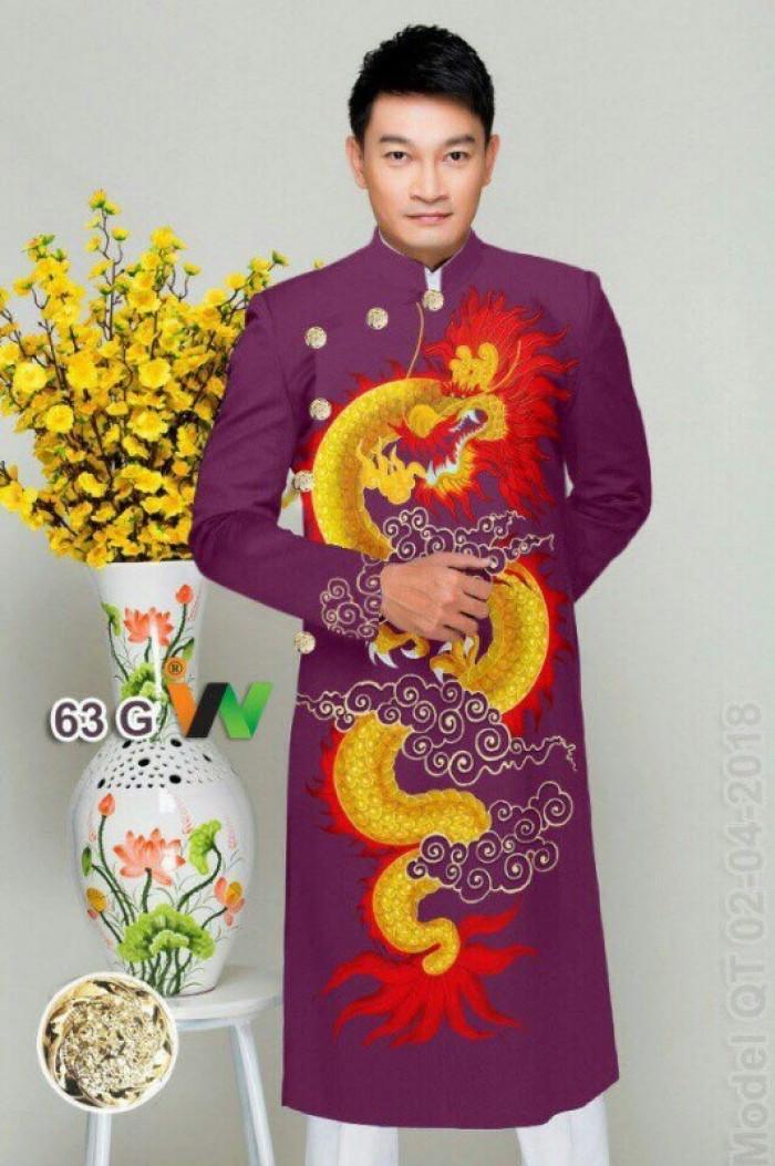 vải may áo dài nam nhận bán vải hoặc may luôn gửi đi trong nước và nước ngoài12
