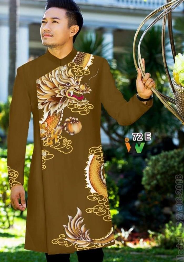 vải may áo dài nam nhận bán vải hoặc may luôn gửi đi trong nước và nước ngoài9