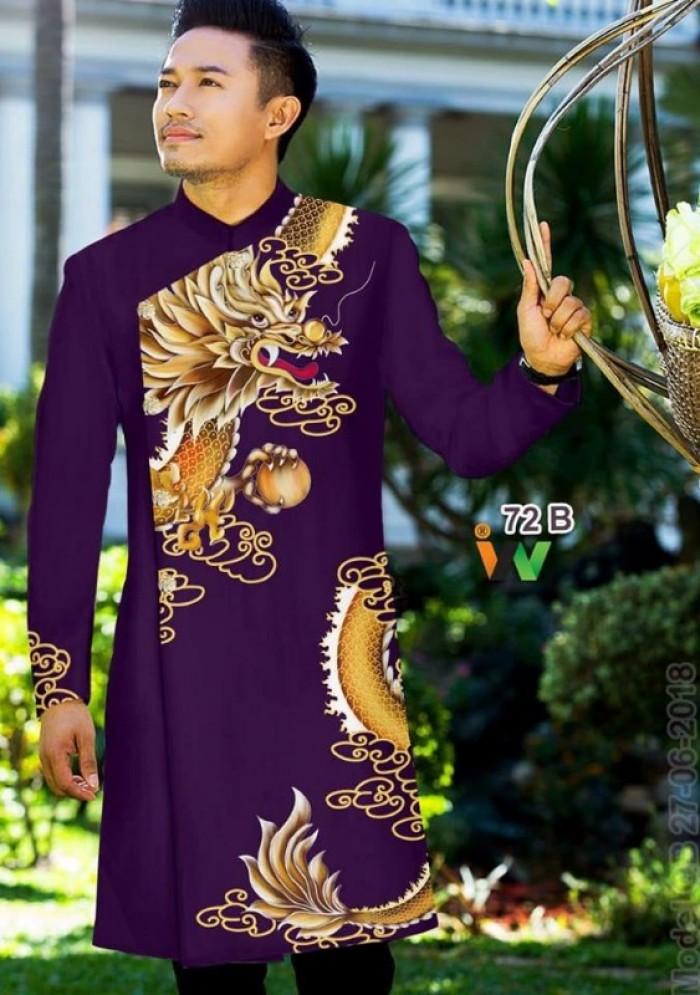 vải may áo dài nam nhận bán vải hoặc may luôn gửi đi trong nước và nước ngoài6