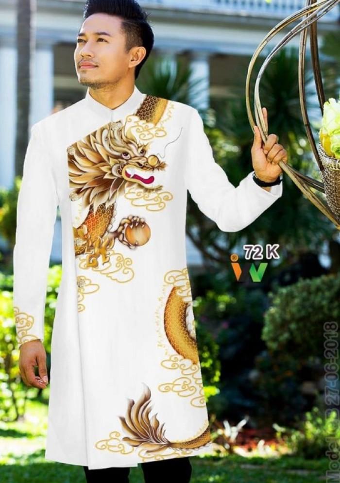 vải may áo dài nam nhận bán vải hoặc may luôn gửi đi trong nước và nước ngoài4