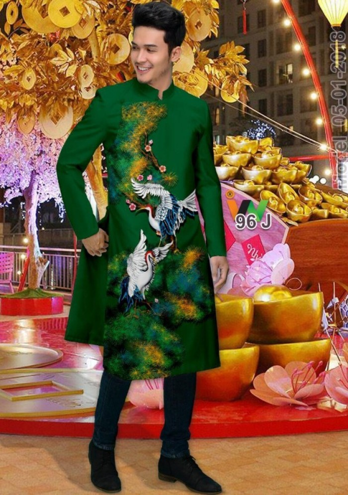 vải may áo dài nam nhận bán vải hoặc may luôn gửi đi trong nước và nước ngoài8