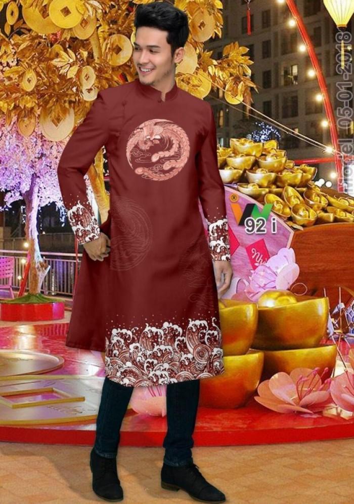 vải may áo dài nam nhận bán vải hoặc may luôn gửi đi trong nước và nước ngoài14