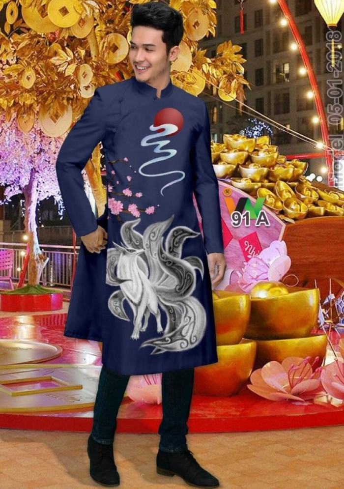 vải may áo dài nam nhận bán vải hoặc may luôn gửi đi trong nước và nước ngoài19