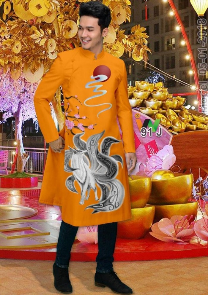 vải may áo dài nam nhận bán vải hoặc may luôn gửi đi trong nước và nước ngoài18