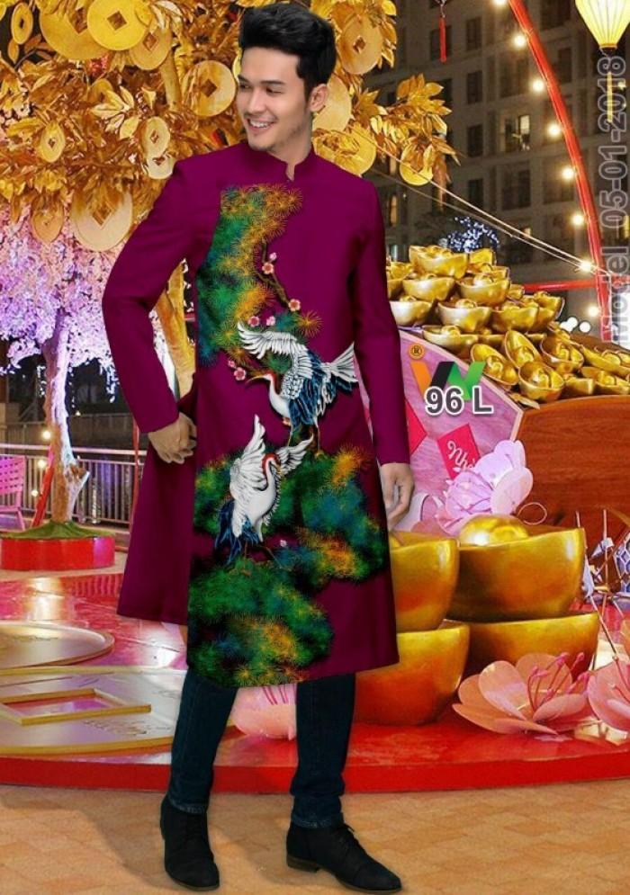 vải may áo dài nam nhận bán vải hoặc may luôn gửi đi trong nước và nước ngoài15