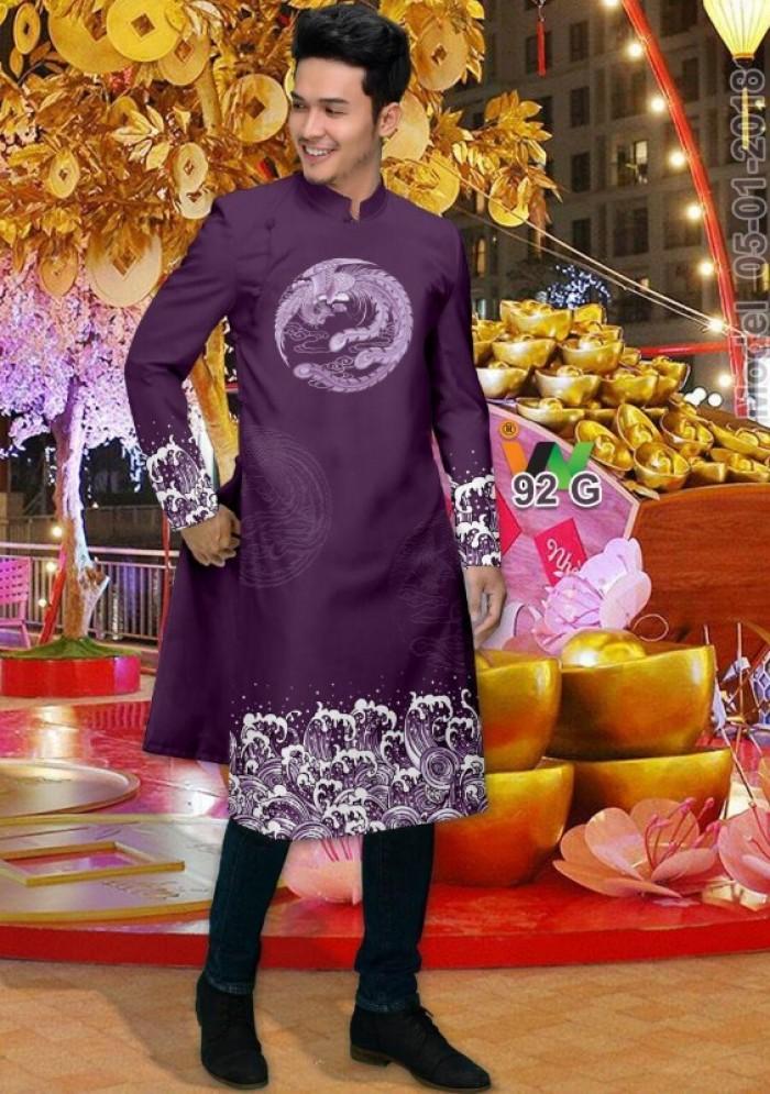 vải may áo dài nam nhận bán vải hoặc may luôn gửi đi trong nước và nước ngoài11