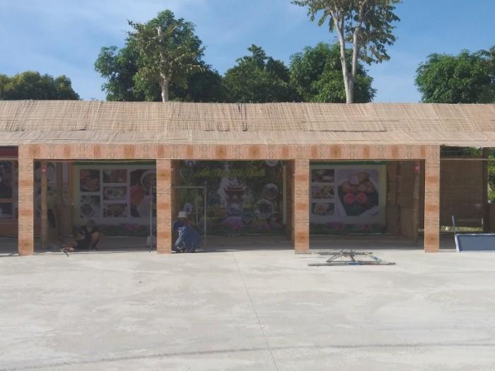 Thi công gian hàng triển lãm bằng tre tại Sài Gòn