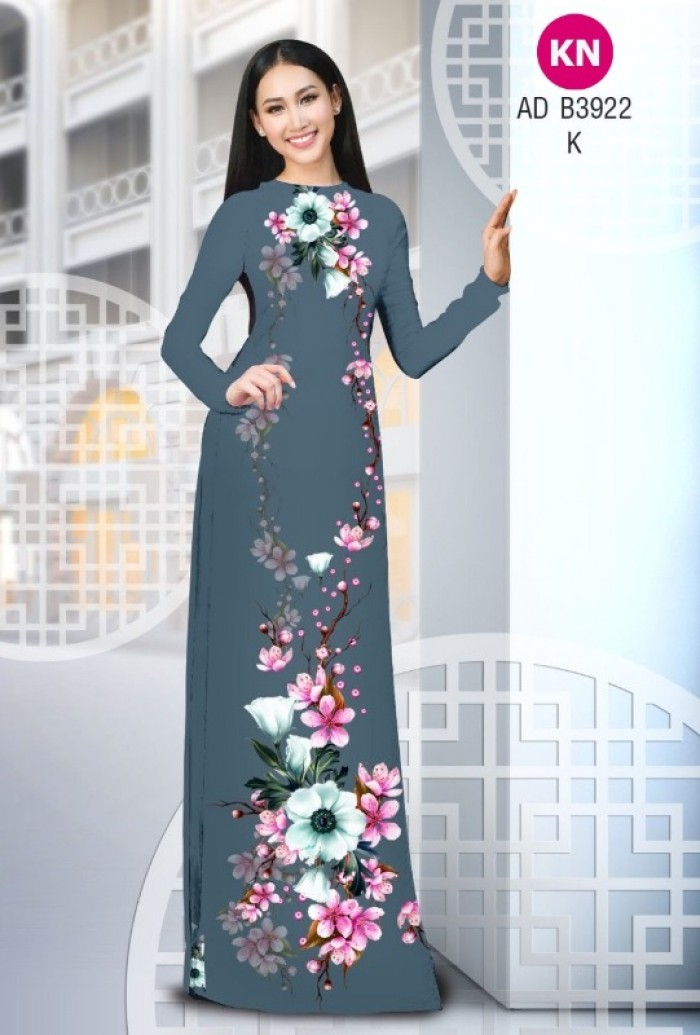 Vải áo dài đẹp mùa tết 2020 của vải áo dài Kim ngọc ADKN B3922