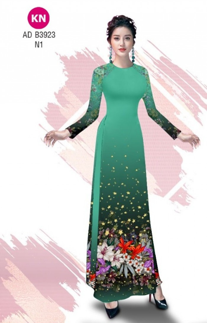 Vải áo dài độc đáo cho ngày tết 2020 của vải áo dài Kim ngọc ADKN B39230