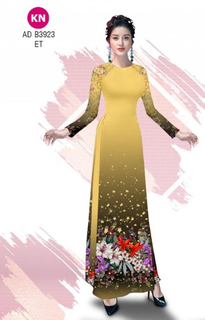 Vải áo dài độc đáo cho ngày tết 2020 của vải áo dài Kim ngọc ADKN B392311