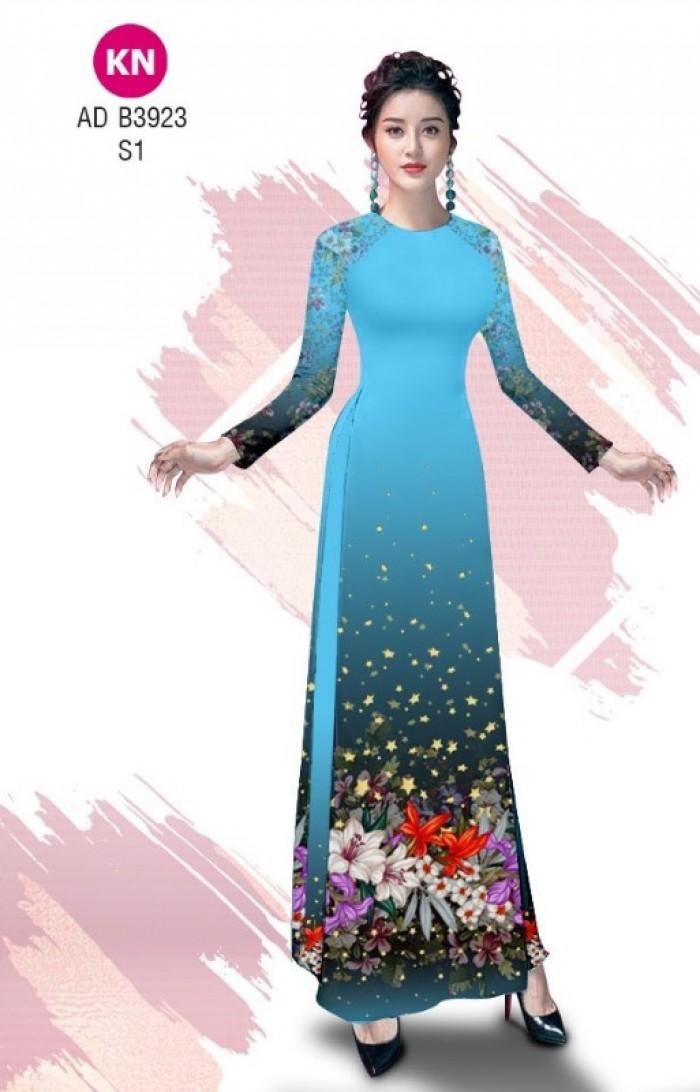 Vải áo dài độc đáo cho ngày tết 2020 của vải áo dài Kim ngọc ADKN B39237