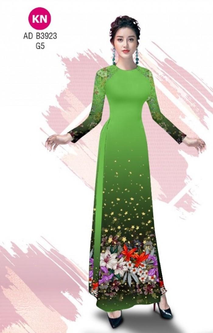 Vải áo dài độc đáo cho ngày tết 2020 của vải áo dài Kim ngọc ADKN B39231