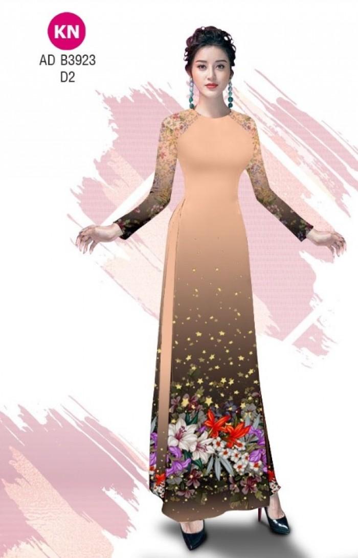 Vải áo dài độc đáo cho ngày tết 2020 của vải áo dài Kim ngọc ADKN B39233