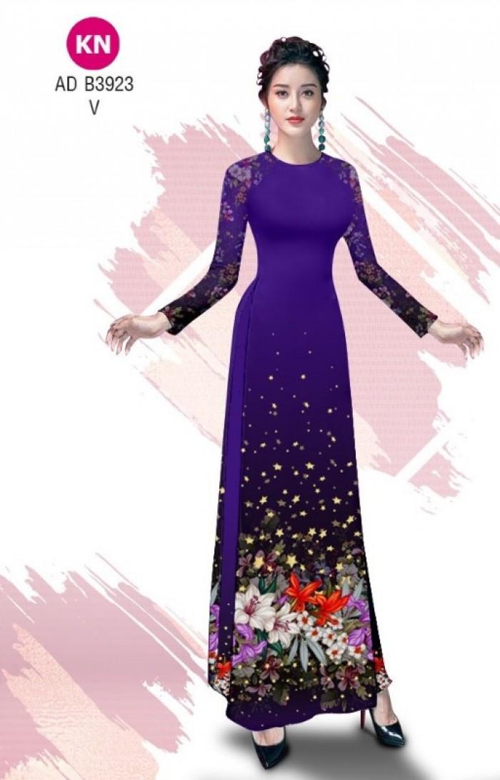 Vải áo dài độc đáo cho ngày tết 2020 của vải áo dài Kim ngọc ADKN B39232