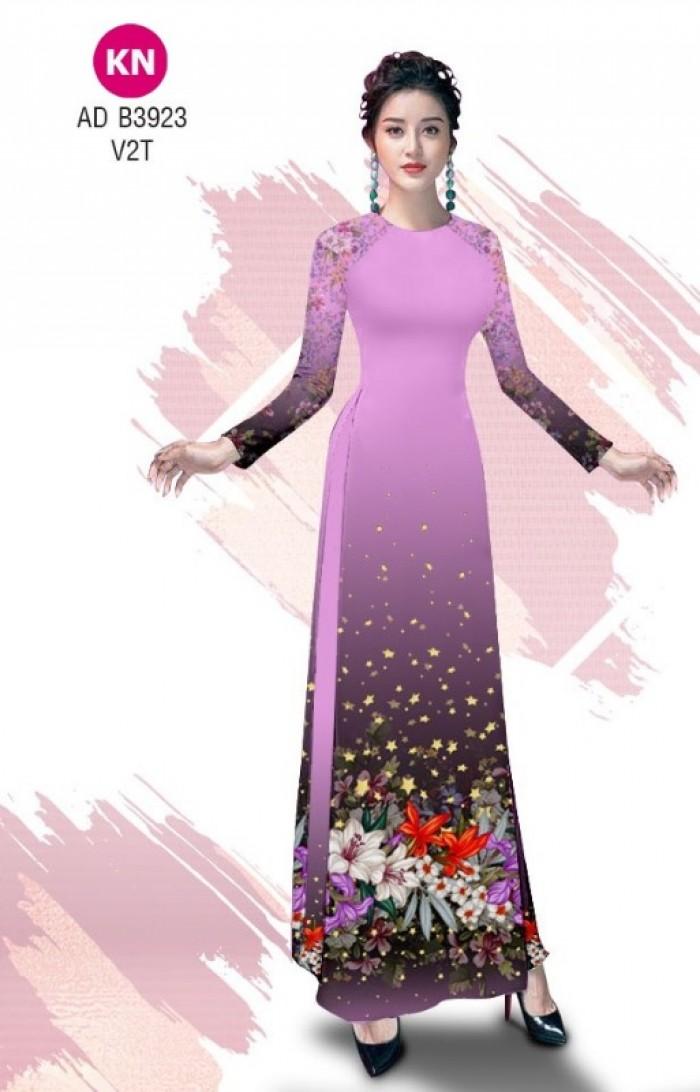 Vải áo dài độc đáo cho ngày tết 2020 của vải áo dài Kim ngọc ADKN B39235